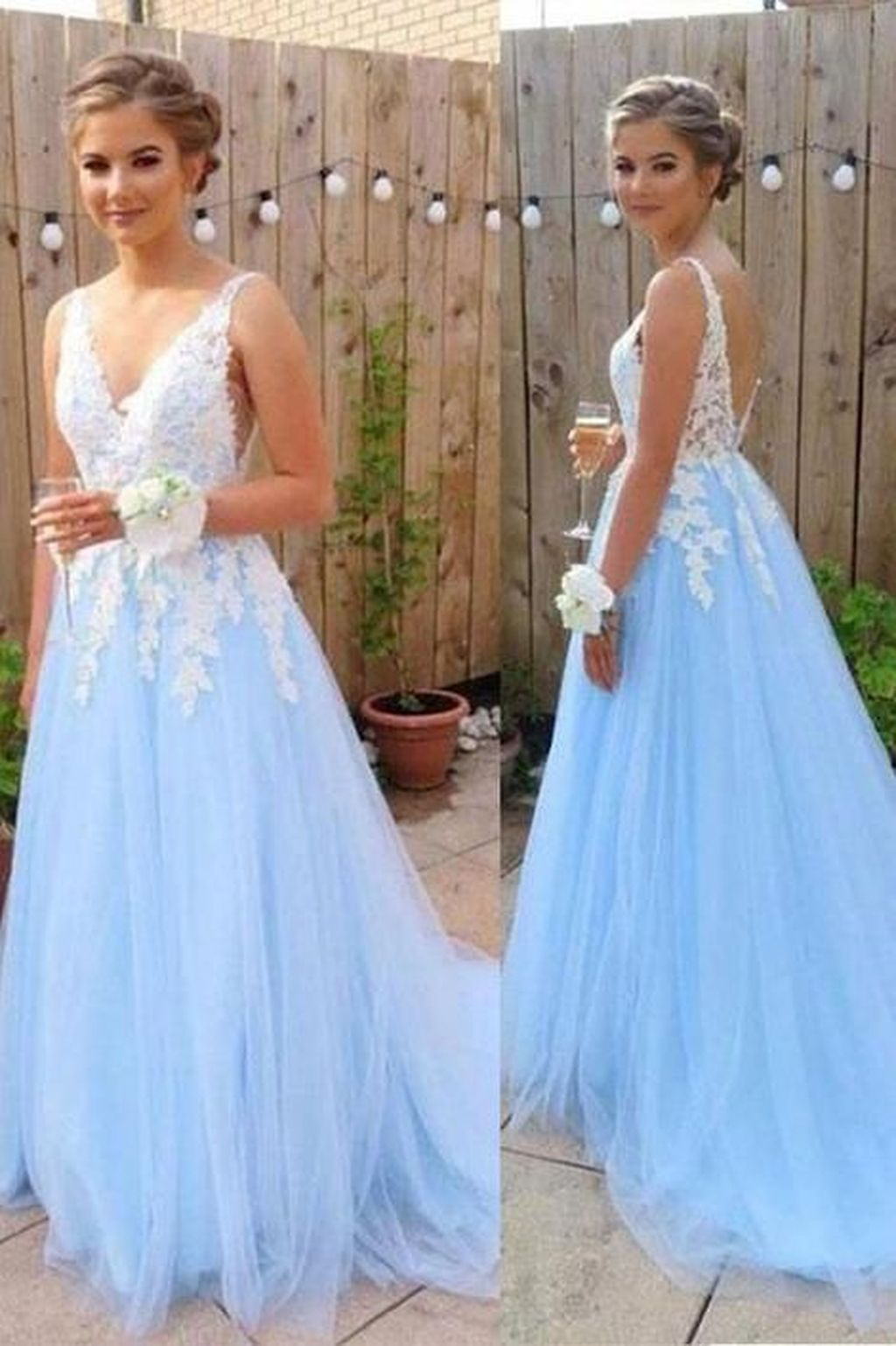 Long Prom Dresses With Applique,Fashion Winter