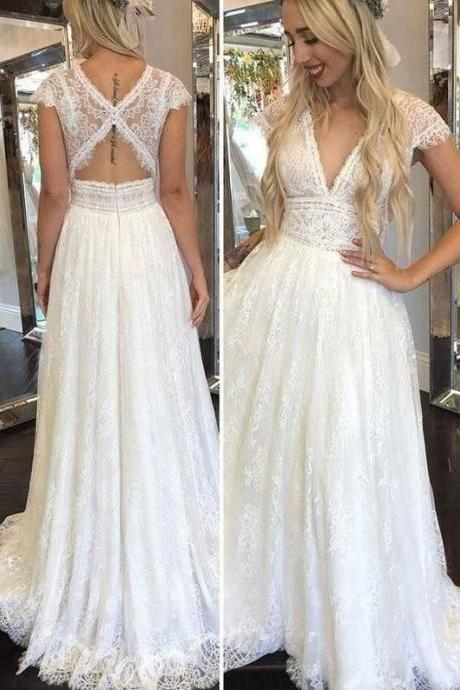 Charming Wedding Dresses Bridal Gowns with Lace